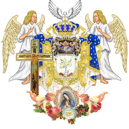 ESPIRTVS SANCTVS X Auctoritas the world peace coat of arms at rest of Prince Adagio