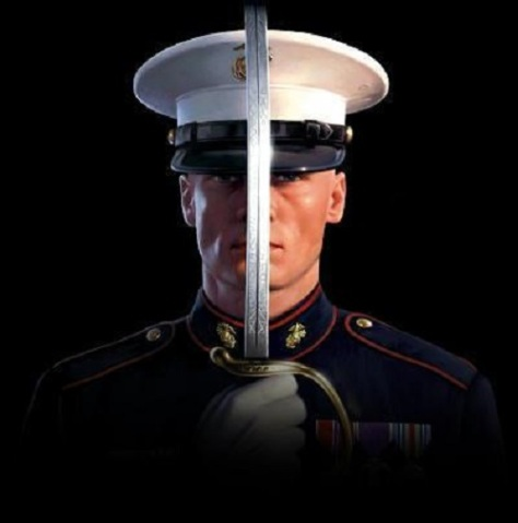 US Marine Dress Blues for the American Theocracy